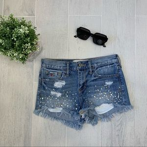 Hollister Jewelled Jean Shorts Sz 24